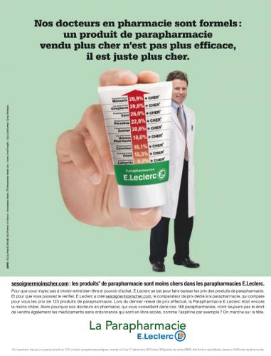 un produit de parapharmacie vendu plus cher n'est pas plus efficace