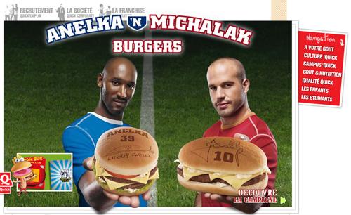 Une campagne Quick en 2007 avec Nicolas Anelka