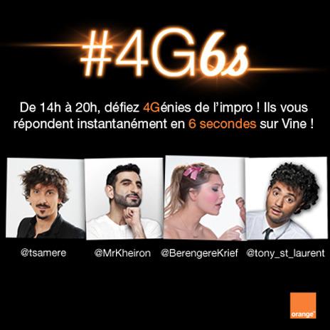 Orange lance des défis sur Vine #4GS6
