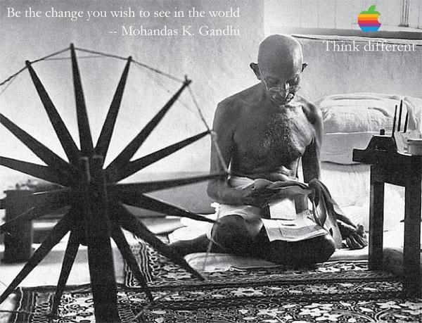 Gandhi pour une publicité Apple