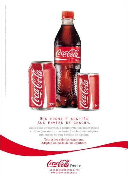Une des campagnes de Coca-Cola pour lutter contre l'obésité