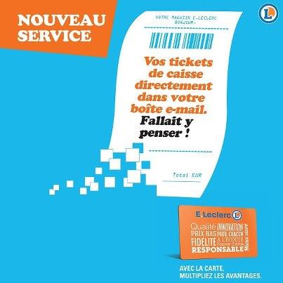 Les tickets de caisse envoyés par mail