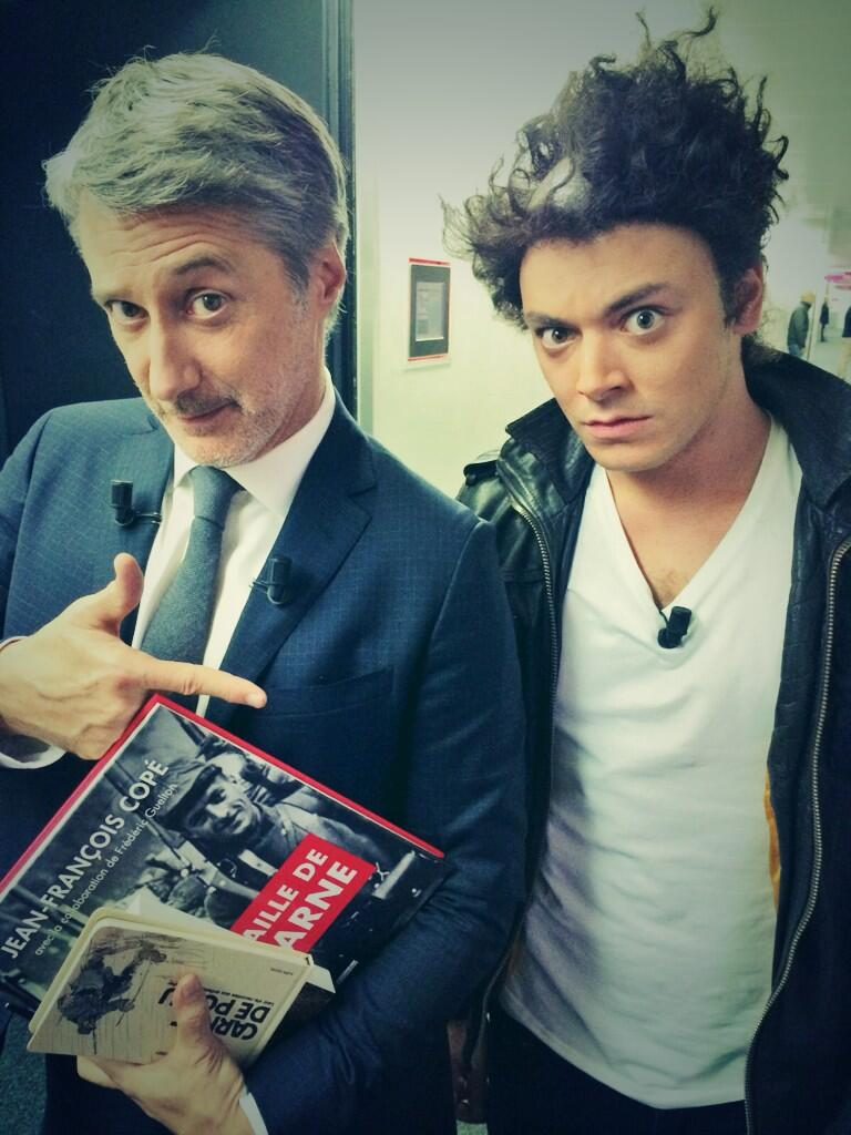 kev adams antoine de caunes tête rasé grand journal