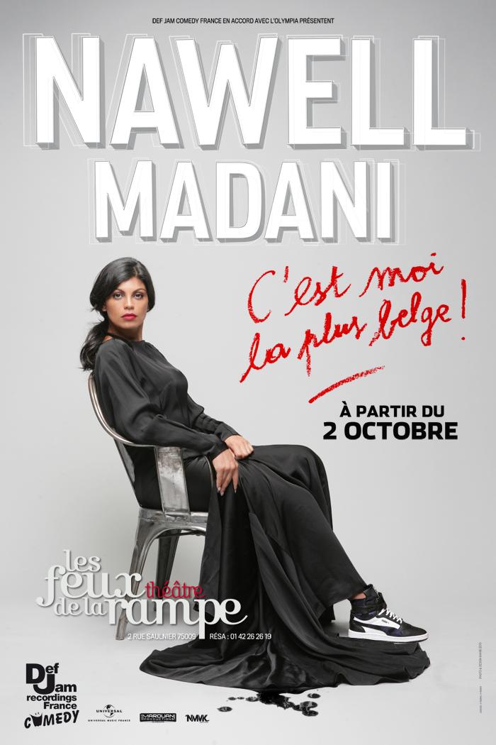 affiche spectacle c'est moi la plus belge nawell madani