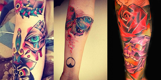 tatouages couleurs