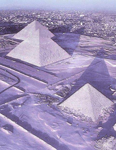 egypte sous la neige