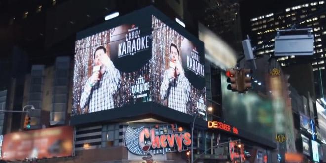 heineken opération de com karaoké time square nba carol karaoke