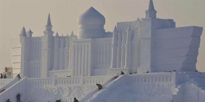 Festival scultures neige et glace harbin chine spectaculaire