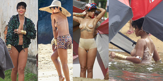 rihanna sexy a rio bresil topless photo instagram
