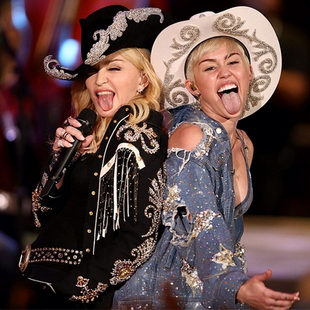l-affiche-du-concert-unplugged-de-miley-sur-mtv instagram madonna repetition duo de choc