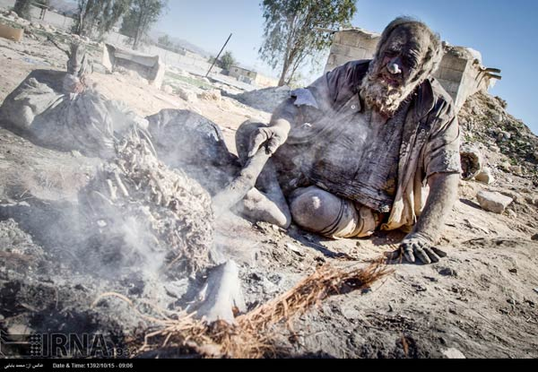 homme iranien ne s'est pas lave depuis 60 ans
