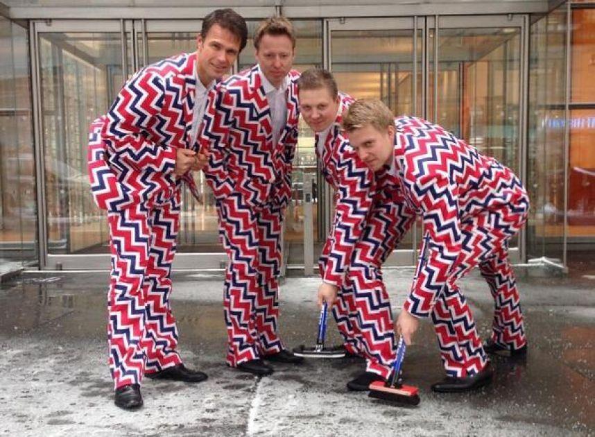 les tenues les plus kitch pour les jo de sotchi L'équipe de curling de Norvège