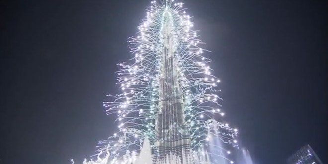 feu artifice dubai 2014