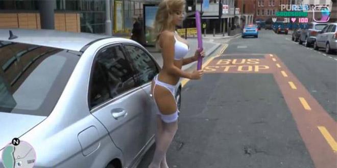 gta dans la vraie vie jeu video fille sexy lingerie