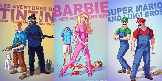 heros de dessin anime trash