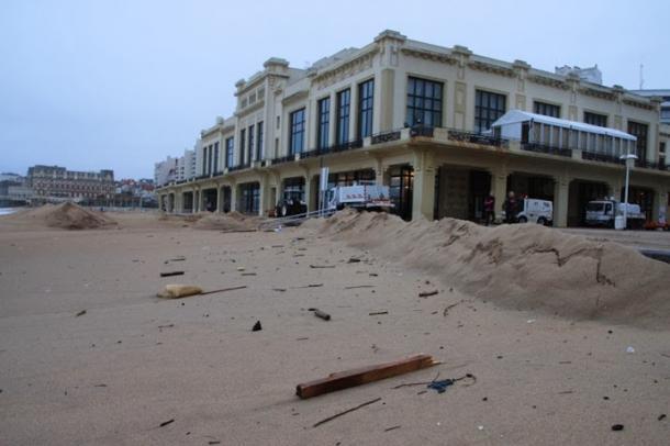 plage biarritz tempete casino