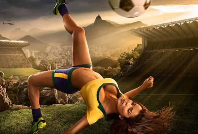 Calendrier sexy Tim Taddler photographe americain sportif arty pour le mondiale de football 2014 au brésil