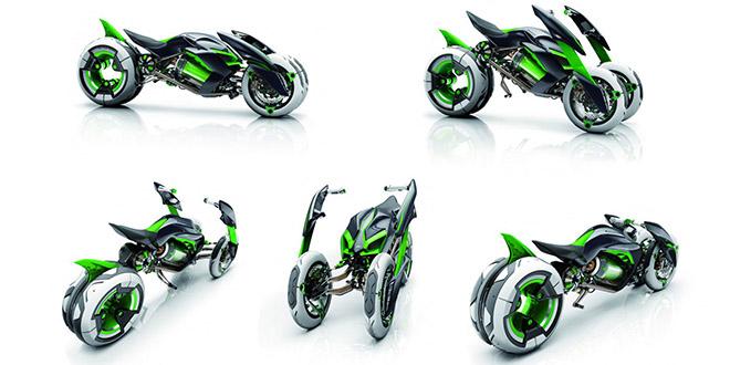 moto Kawasaki J Three Wheeler EV