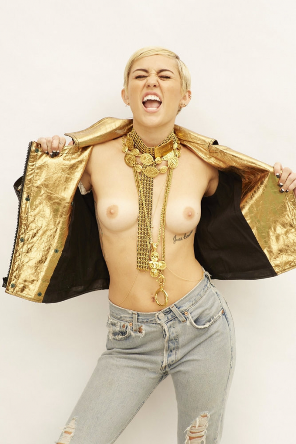 miley crysu topless