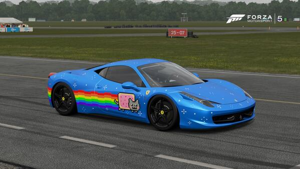 nyan cat ferrari deadmau5