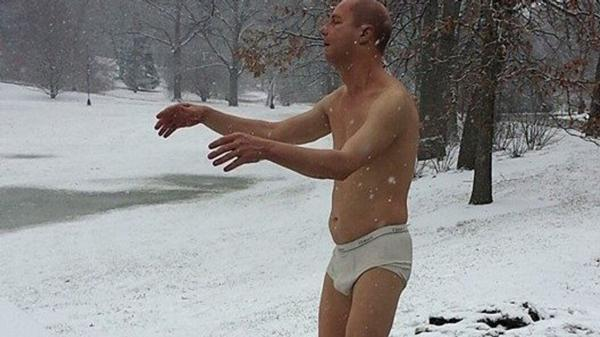 underwear statue