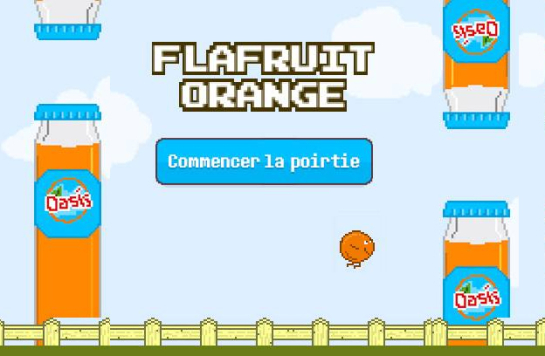 flafruit orange osasis remplace flappybird