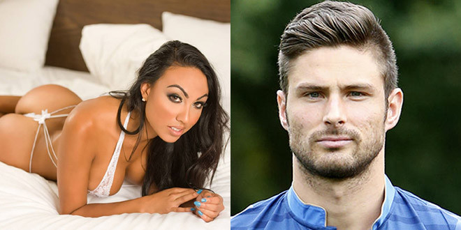 olivier giroud trompe sa femme avec un mannequin. Black Bedroom Furniture Sets. Home Design Ideas