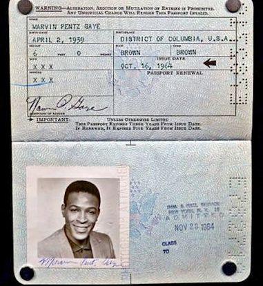 Le passeport de Marvin Gaye retrouvé dans une pochette de disque