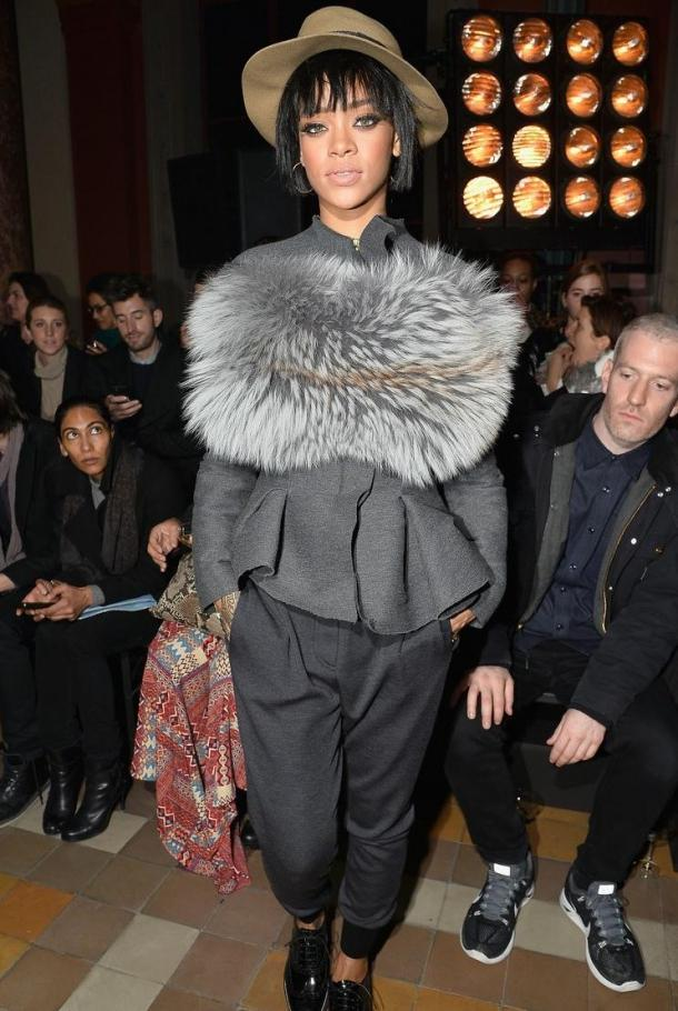 rihanna defile lanvin paris fashion week