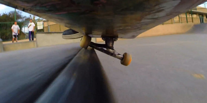 skate go pro backflip