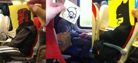 un illustrateur dessine dans le train