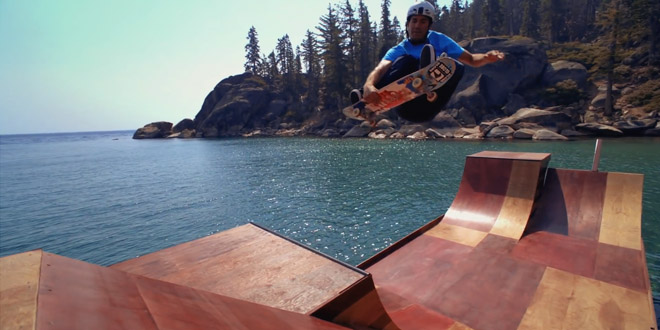bob burnquist skate sur une rampe flottante. Black Bedroom Furniture Sets. Home Design Ideas