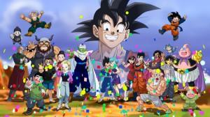 les personnages de dbz souhaitent un bon anniversaire