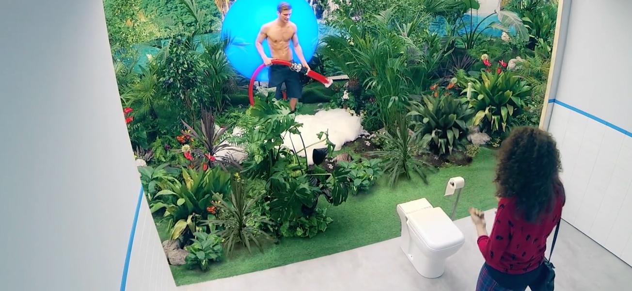 jungle apparait dans les wc