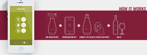 smartphone contrôlant la fabrication du vin