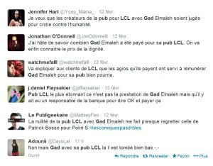 reactions twitter pub lcl gad elmaleh