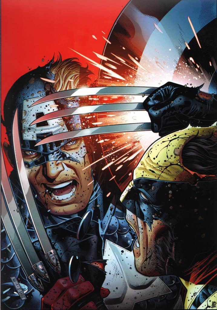 captain america contre wolverine