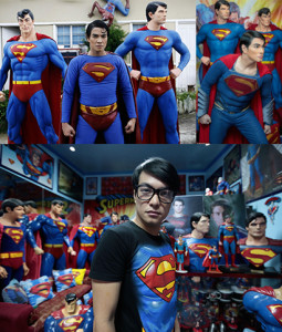 sa chambre est truffée d'objets superman