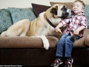 enfant chien amitié owen haatchi