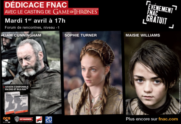 dedicace Fnac Game Of Thrones paris