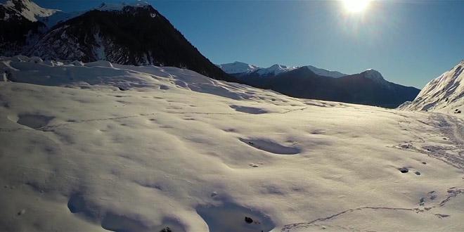 glacier go pro alaska film drone