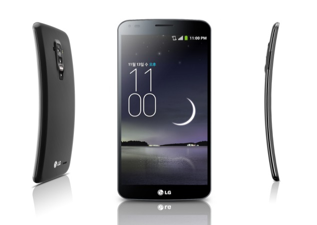 lg smartphone g flex écran incurvé