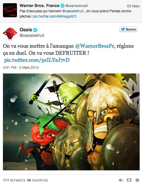 guerre entre oasis et warner bros