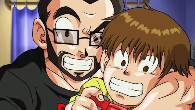 papa et son fils dans dbz
