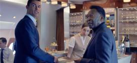 ronaldo pele pub spot avion emirates