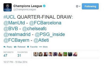 screenshot uefa twitter tirage au sort fake pirate hacke