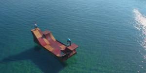skate parc sur l'eau