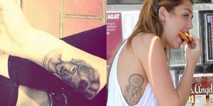 tatouage miley cyrus bras attrape reve portrait grand mere