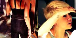tatouage miley cyrus encre croix