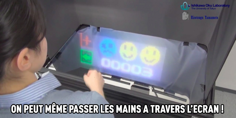 on peut passer à travers l'ecran
